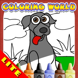 Dog Coloring World: First Fingerpaint and Emoji Art Color Book For Kids!