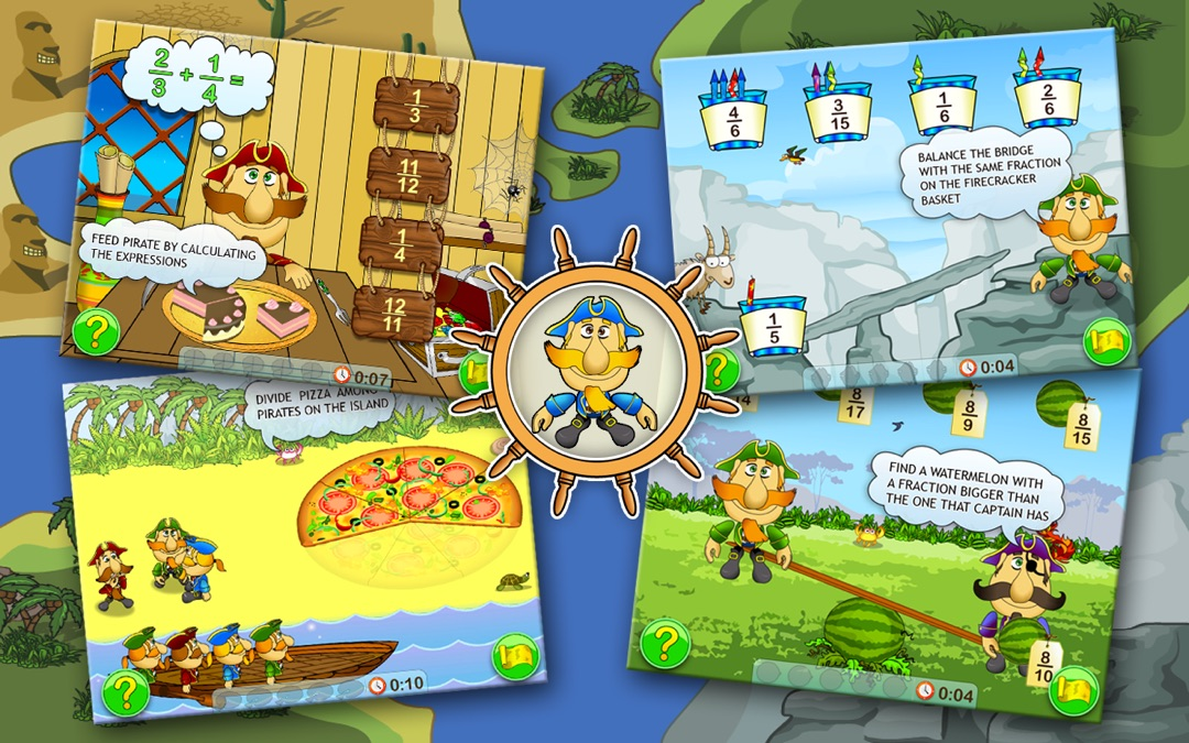 Fractions and Smart Pirates  Free - Online Game Hack and