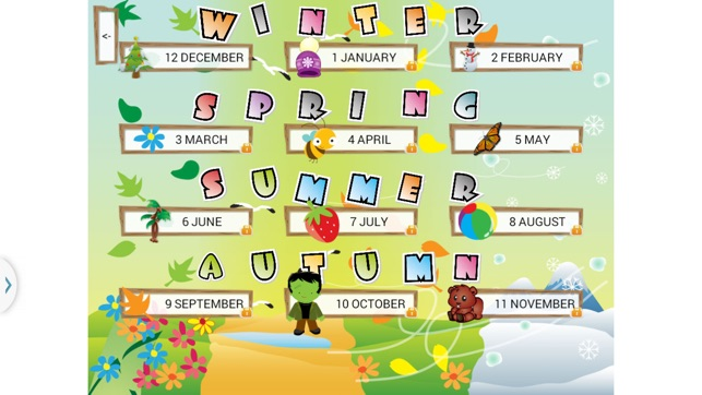 Months Of Fall Season: Kids Learn Seasons And Months On The App Store