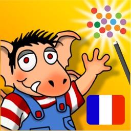FR-À L'École – Petit Monstre À L'École livre de contes interactif en français et en anglais