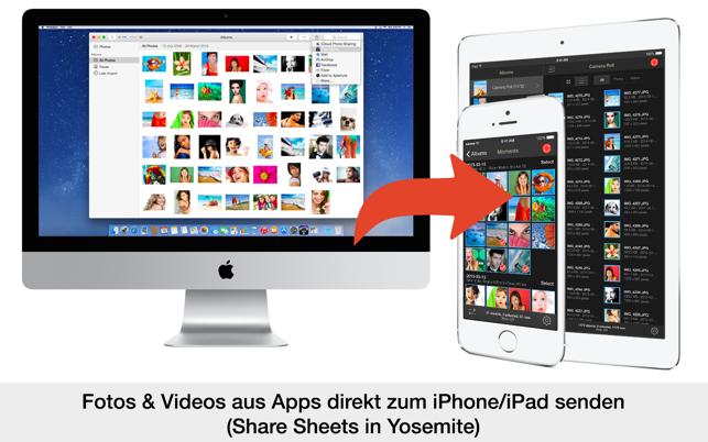 photosync fotos videos bertragen und sichern im mac app store. Black Bedroom Furniture Sets. Home Design Ideas
