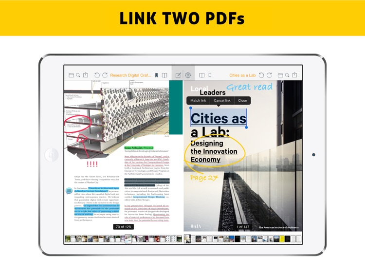Easy Annotate - Split Screen Dual PDF Editor for Annotating and Linking Two Documents screenshot-0