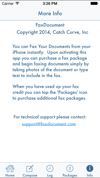 FaxDocument – send fax from iPhone