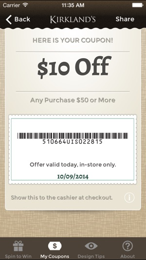 App store coupons