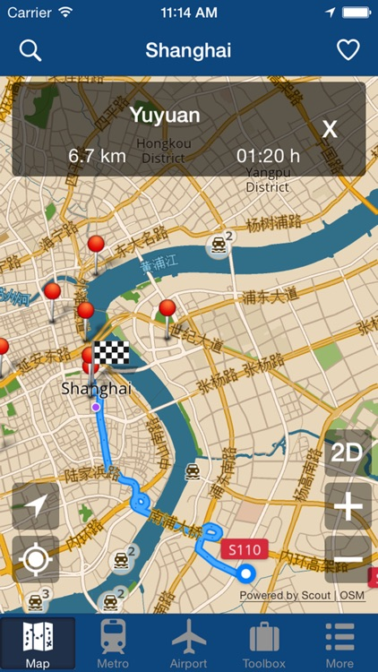 Shanghai Offline Map - City Metro Airport screenshot-4