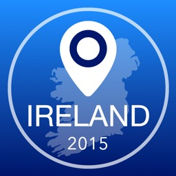 Ireland Offline Map + City Guide Navigator, Attractions and Transports
