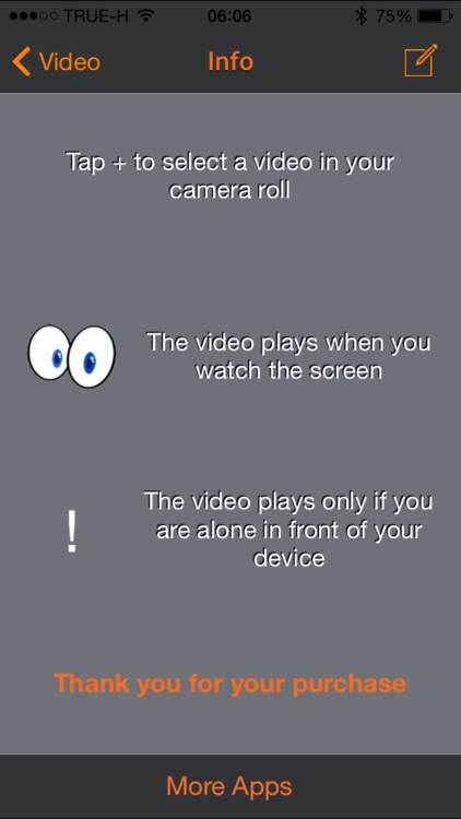 Eye Video - Videos play only when you look at them screenshot-3