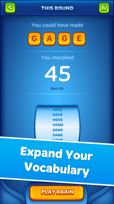 Word Morph! - Endless Word Puzzle Game screenshot four