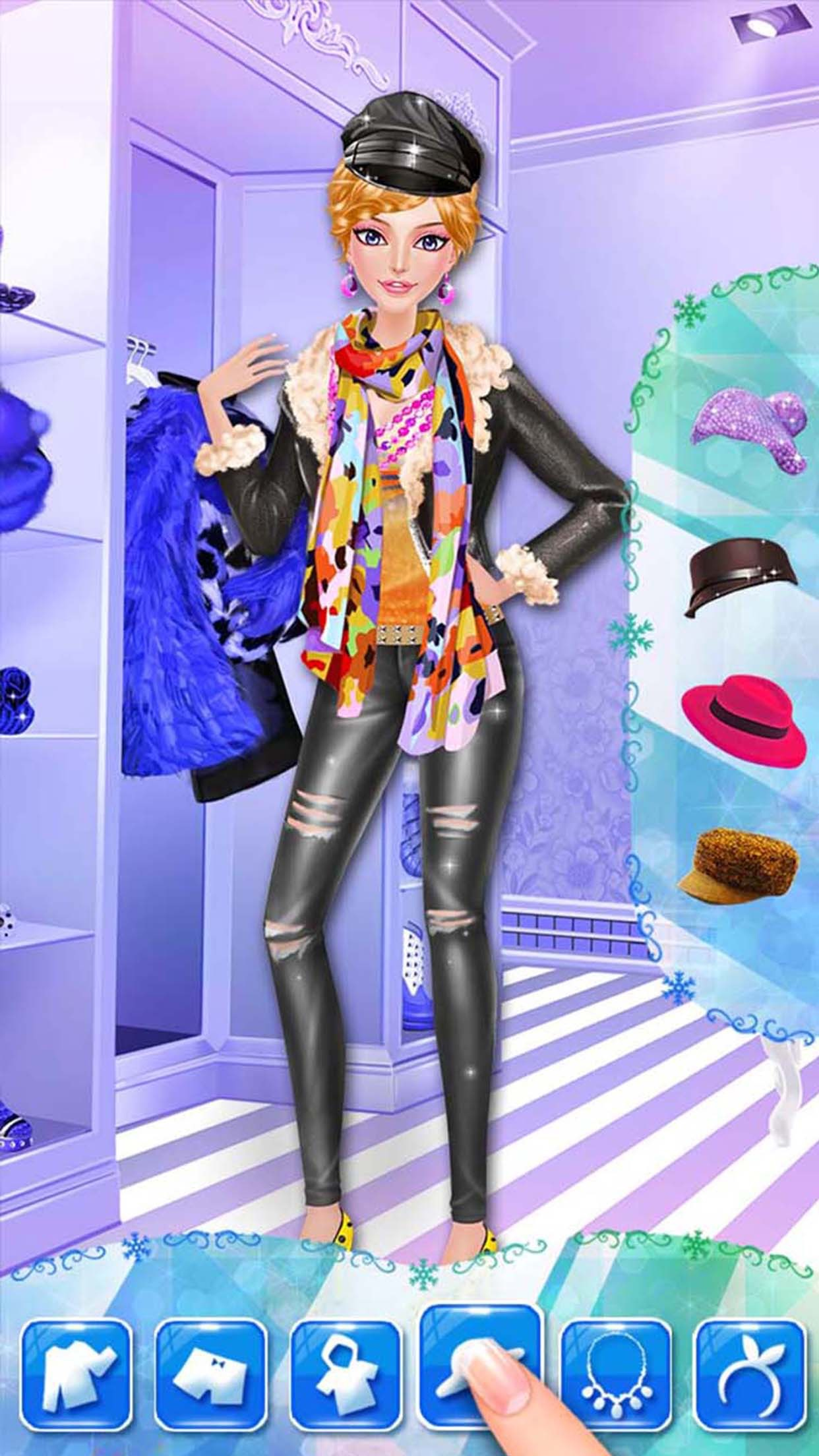 Winter Fashion - North Pole Snowy Closet Screenshot
