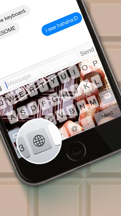 Custom Keyboard Chocolate : White & Dark Themes Color Wallpaper Keyboard