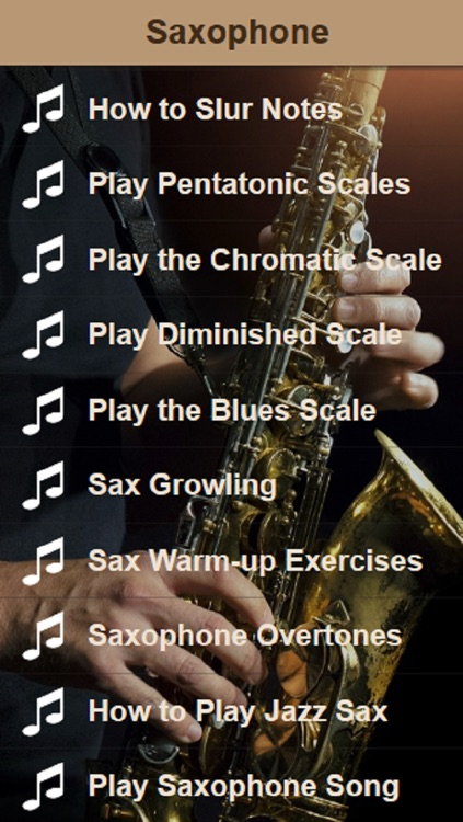 Saxophone Lessons - Learn To Play The Saxophone