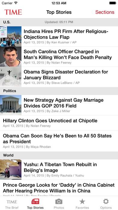 TIME Mobile ScreenShot1