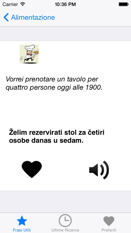 PortosDicty frasi utili italiano-croato con audio madrelingua / Koristne italijansko hrvatske fraze screenshot-3