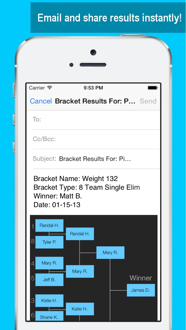 bracket maker by touchmint llc sports category 30 features