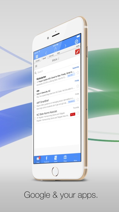 Google Apps Browser by G-Whizz - The #1 Gmail, Talk, Facebook & Twitter Client + Lots More Screenshot 1