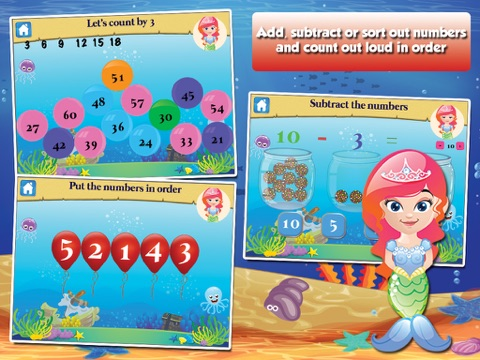 Mermaid Princess Goes To School First Grade Learning Games App