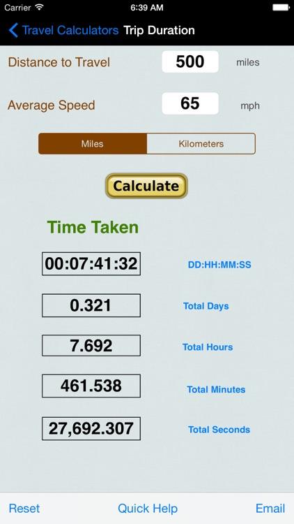 Automobile Trip Calculators & Converters