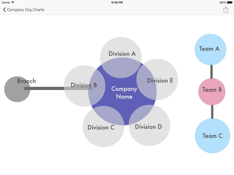 Company Org Charts - Templates for Publisher Star HD screenshot-4