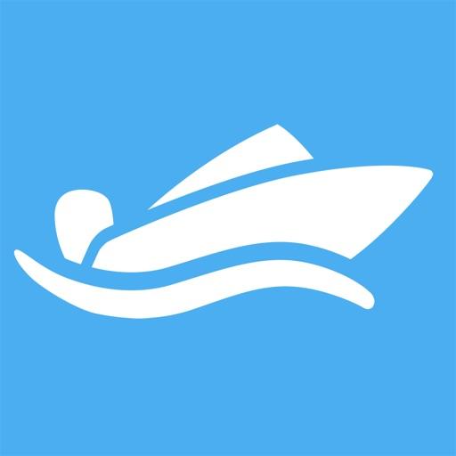 Knop - Dashboard for båt med speedometer, trippteller, avstand til land, m.m.
