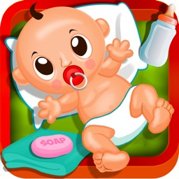 Newborn Baby Love - A free dressup, bathing, cleaning and pure mommy care game for kids