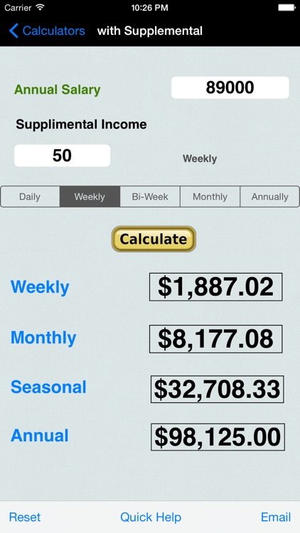 Salary, Income, Annual Income, Money Collection, Percentages, Averages, & Distances Calculators screenshot-0