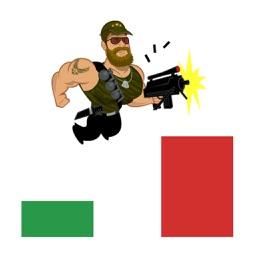 Amazing Hero Jumper - Shooting Platformer Indie Game of Color Tiles