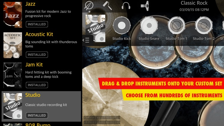 Drums XD - Studio Quality Percussion Custom Built By You! - iPhone Version screenshot-4