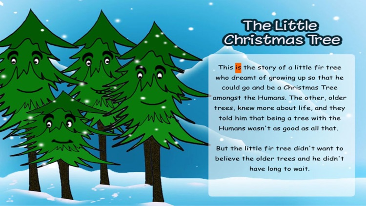The Little Christmas Tree - Interactive eBook in English for children with puzzles and learning games
