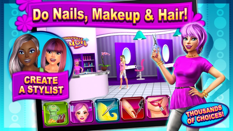 Sunnyville Salon Game - Play Free Hair, Nail & Make Up Games screenshot-0