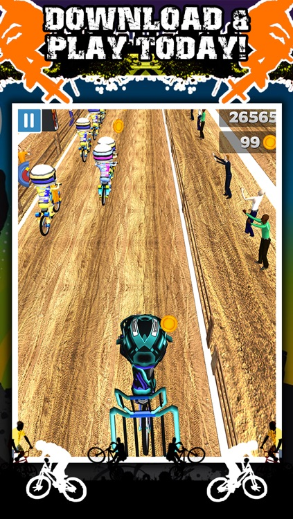 3D BMX Bike Racing Game for Teens by Impossible ATV Race Challenge Games FREE screenshot-4