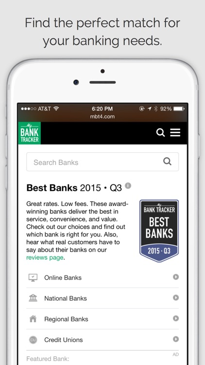 MyBankTracker - Find Top-Rated Banks and Get FREE Personal Finance Advice.