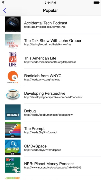 Pod Wrangler - Podcasts Made Easy. Screenshot