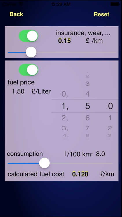 Calc-a-ride Fuel Cost & Ride Share Calculator screenshot-4