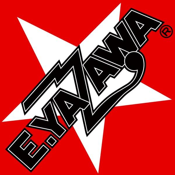 赤地に星マークの黒字の矢沢永吉のロゴの画像