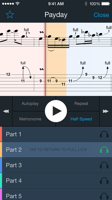 Guitar Lick Master - 50+ Licks, Ultimate Trainer with Smart