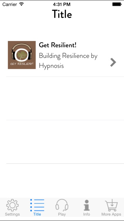 Get Resilient! Building Resilience by Hypnosis screenshot-1