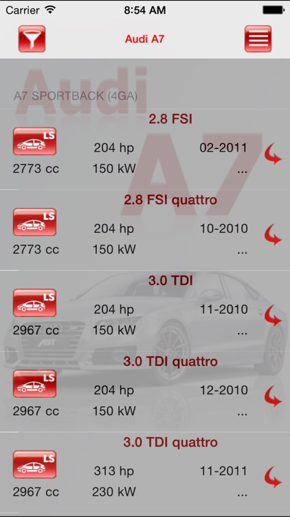 AutoParts Audi A7 screenshot-2