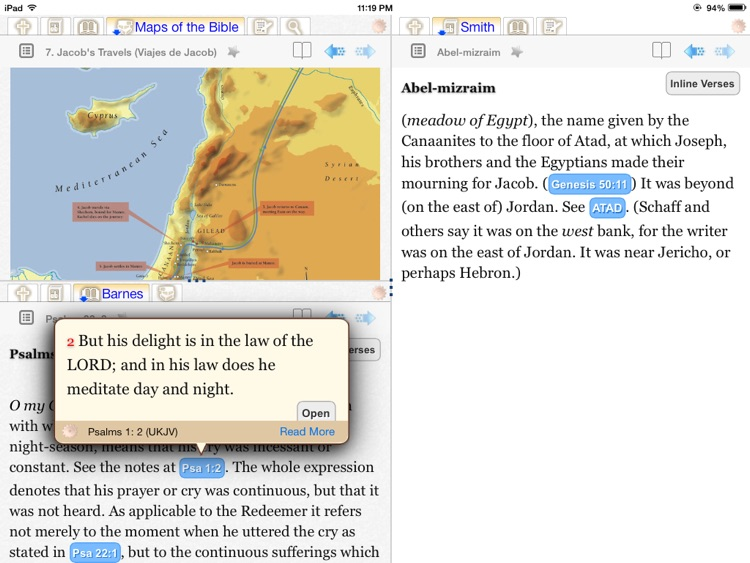 iBible-Study HD (iBS) - A powerful Bible study tool for free, based upon theWord free modules. screenshot-3