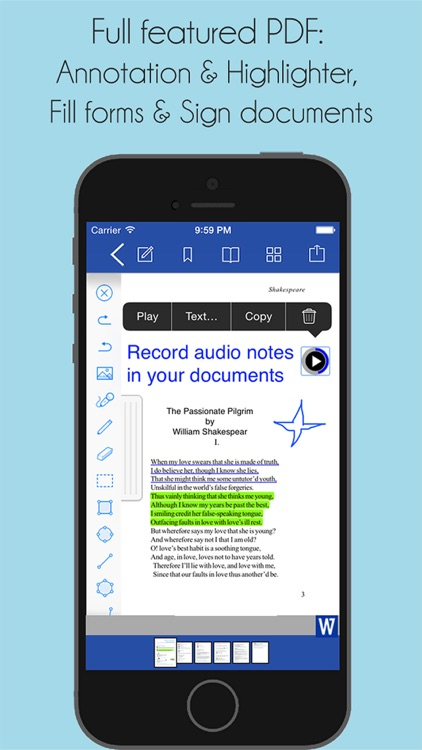 iWord Processor Pro for Microsoft Office + PDF Professional screenshot-3