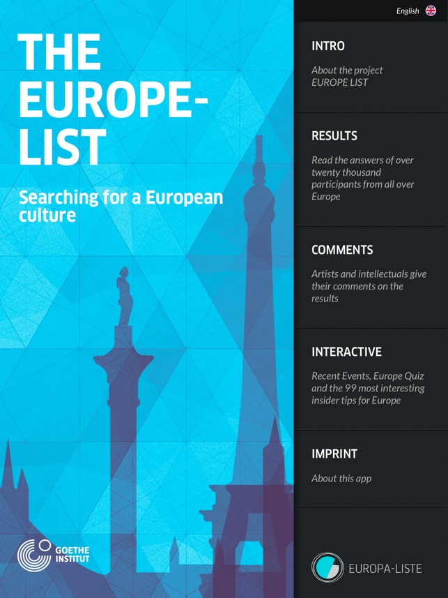 EUROPE-LIST – Searching for a european culture on the App Store