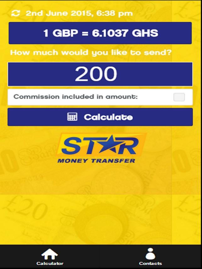 Star Money Transfer Calculator 4