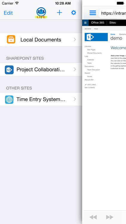 Pinsite Lite - Enterprise Web Browser for Office 365 and SharePoint