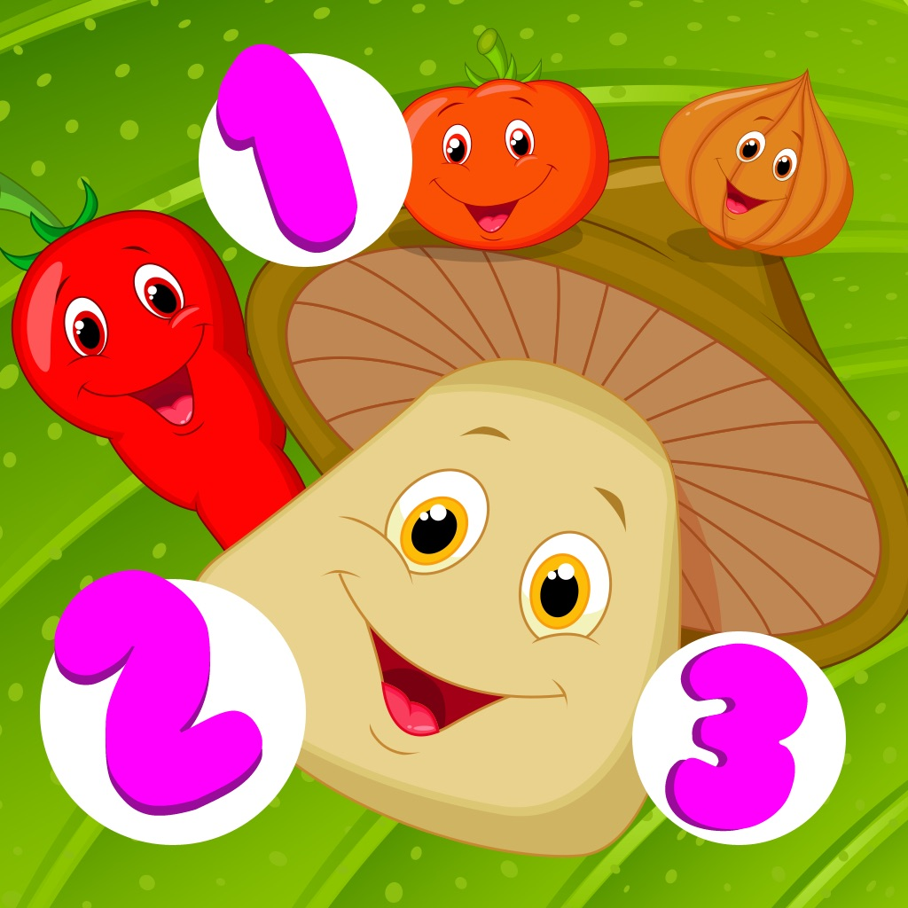 Awesome Harvest Counting Game for Children with Vegetables: Learn to Count 1-10 hack