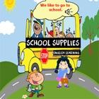 Список школьных принадлежностей и английский разговор обучения для детей icon
