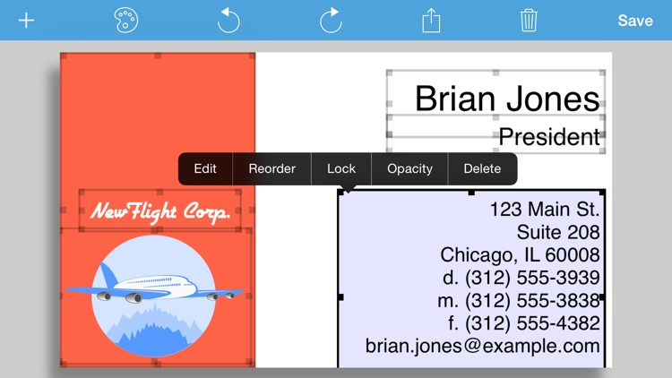 BusinessCardMaker for iOS - Design and print a business card screenshot-3