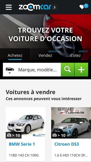 annonces voitures occasion cote auto et depot gratuits pour vendre dans l app store. Black Bedroom Furniture Sets. Home Design Ideas