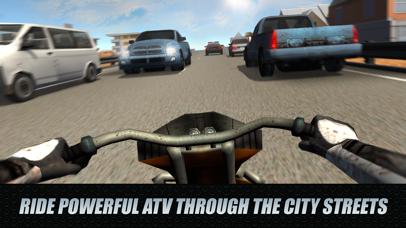 City Traffic Rider 3D: ATV Racing