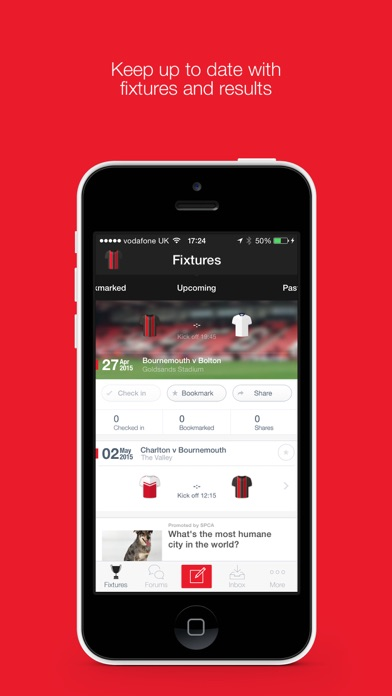 Fan App for AFC Bournemouth screenshot one