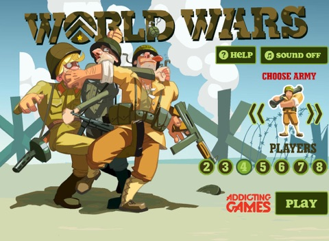 Screenshot 1 For World Wars From Addicting Games