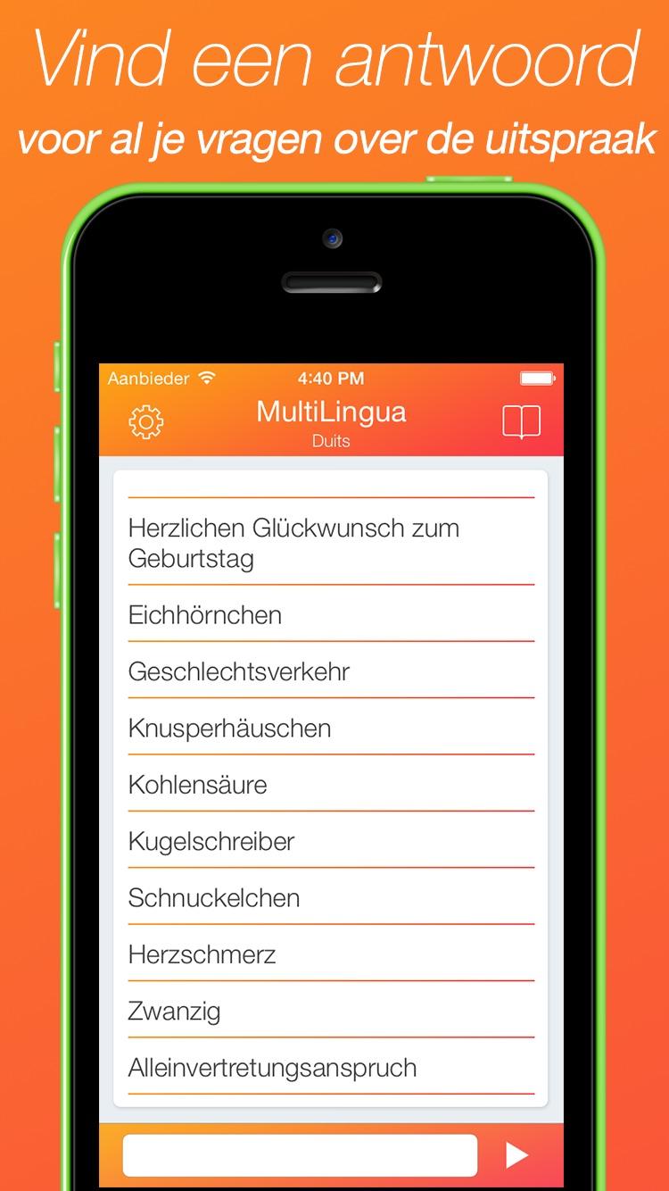 MultiLingua – Uitspraak Tool (Engels, Duits, Frans, Chinees en vele andere talen) Screenshot
